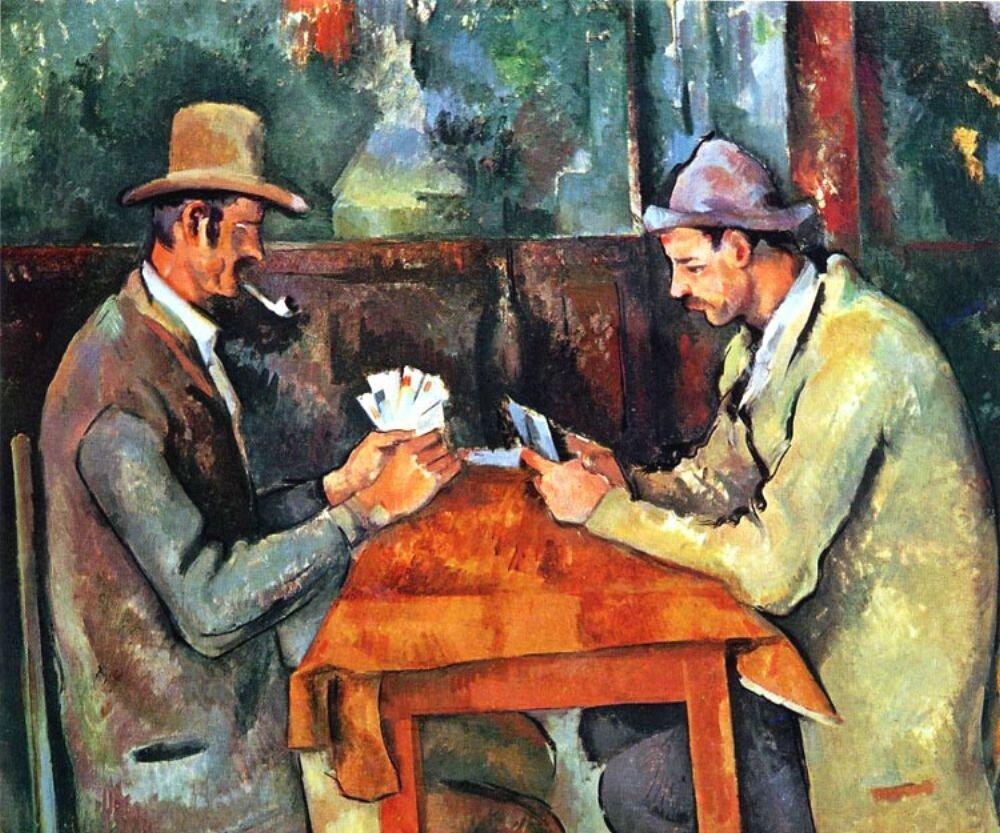 Сезанн. Картежники. (1892-95),Cezanne,  Cardplayers, (1892-95)