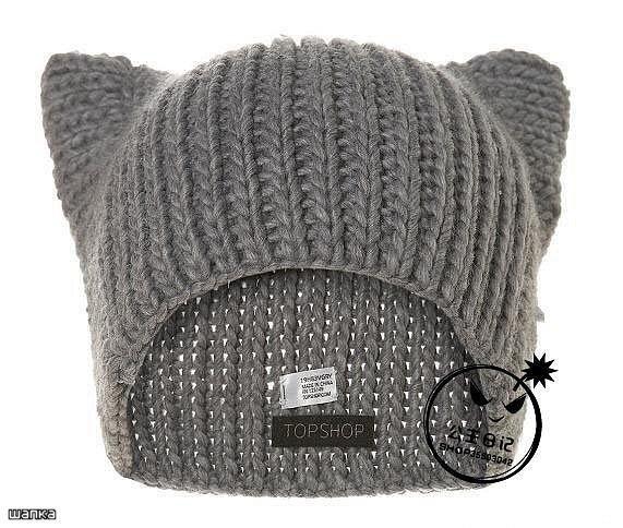 Комментарий: Вязание шапки с ушками.
