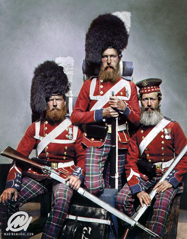 Англичане и их верные слуги - шотландцы.  ( 35 фото )