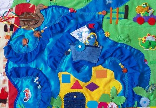 Детский развивающий коврик Семьландия... игровая зона Море