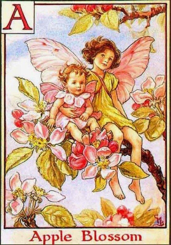 Инициал А. Сесиль Мери Баркер.Эльфы и яблоневый цвет.