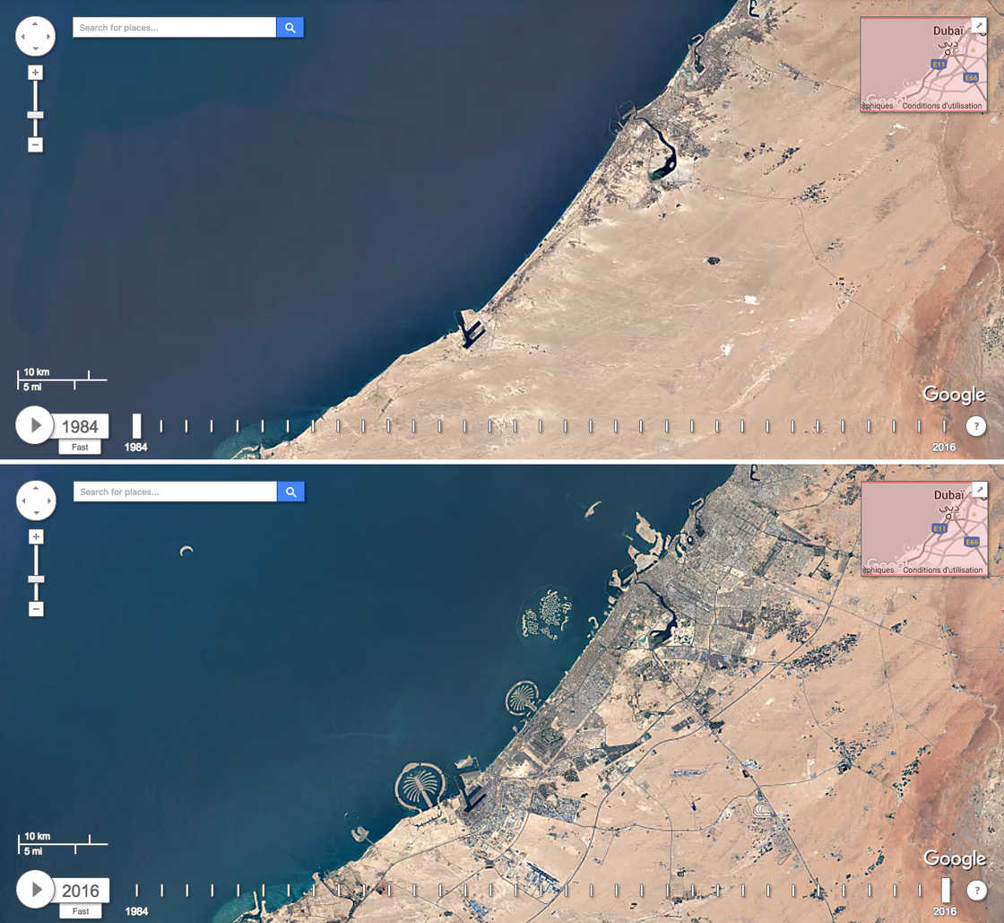 Google Earth Timelapse - Discover the evolution of the world seen from the sky!