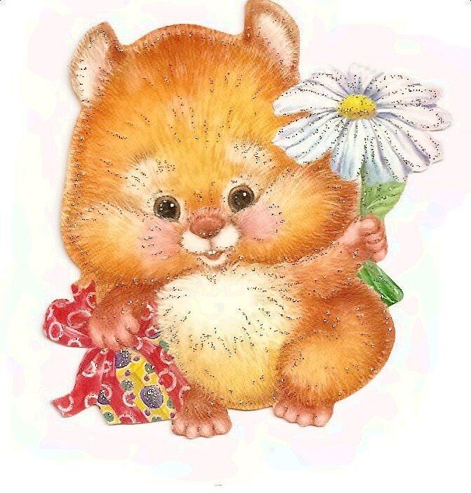 Медведь, открытки с хомяком на день рождения