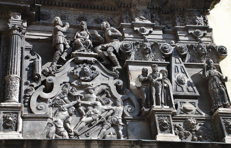 Часовня Боимов. Фрагмент главного фасада.