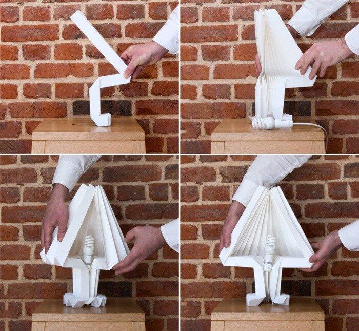 Лампочка из бумаги своими руками