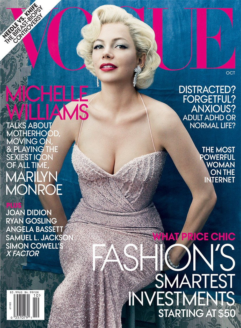Мишель Уильямс / Michelle Williams by Annie Leibovitz in Vogue US october 2011