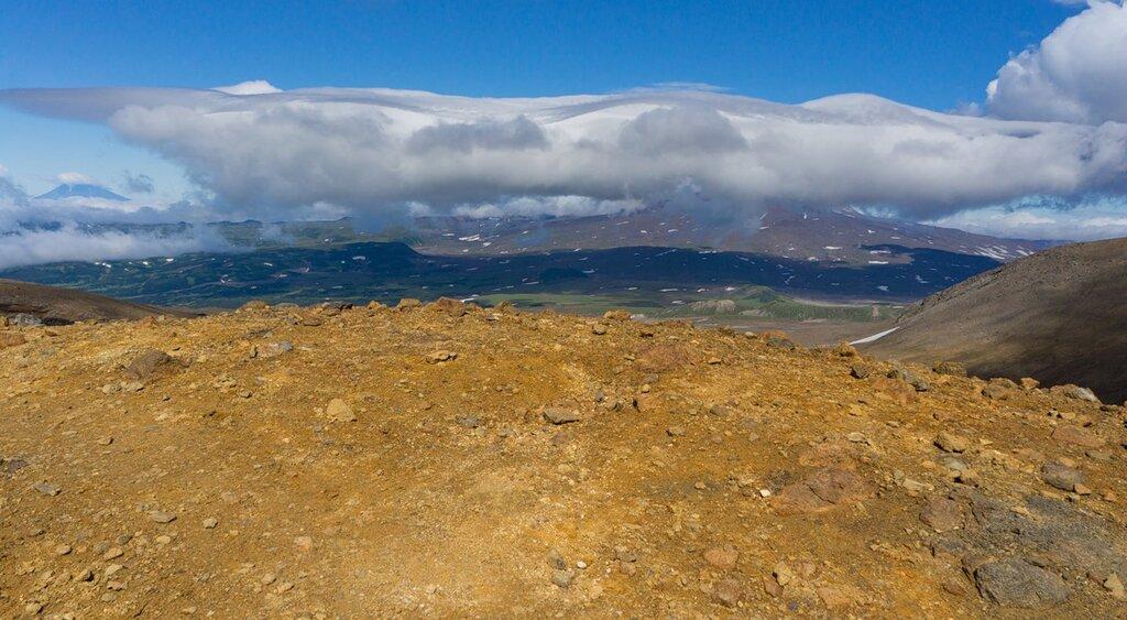 Вид со склона Мутновского вулкана