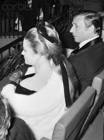Princess Grace and Yves Montand at a Premiere