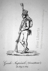 пехотинец императорской гвардии 1809-1814