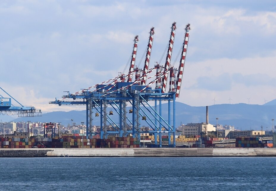 The Port Of Naples. Container terminal