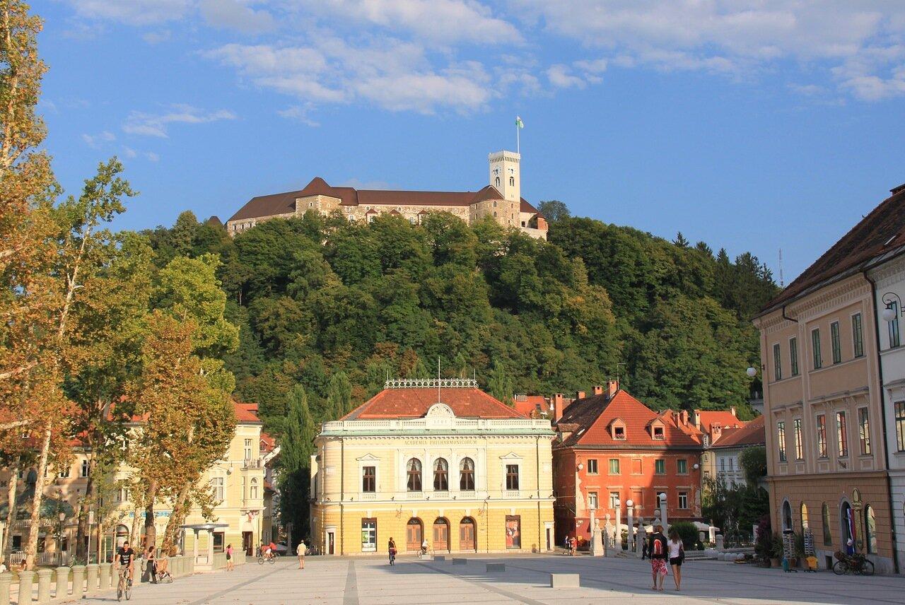 Любляна,вид на замок