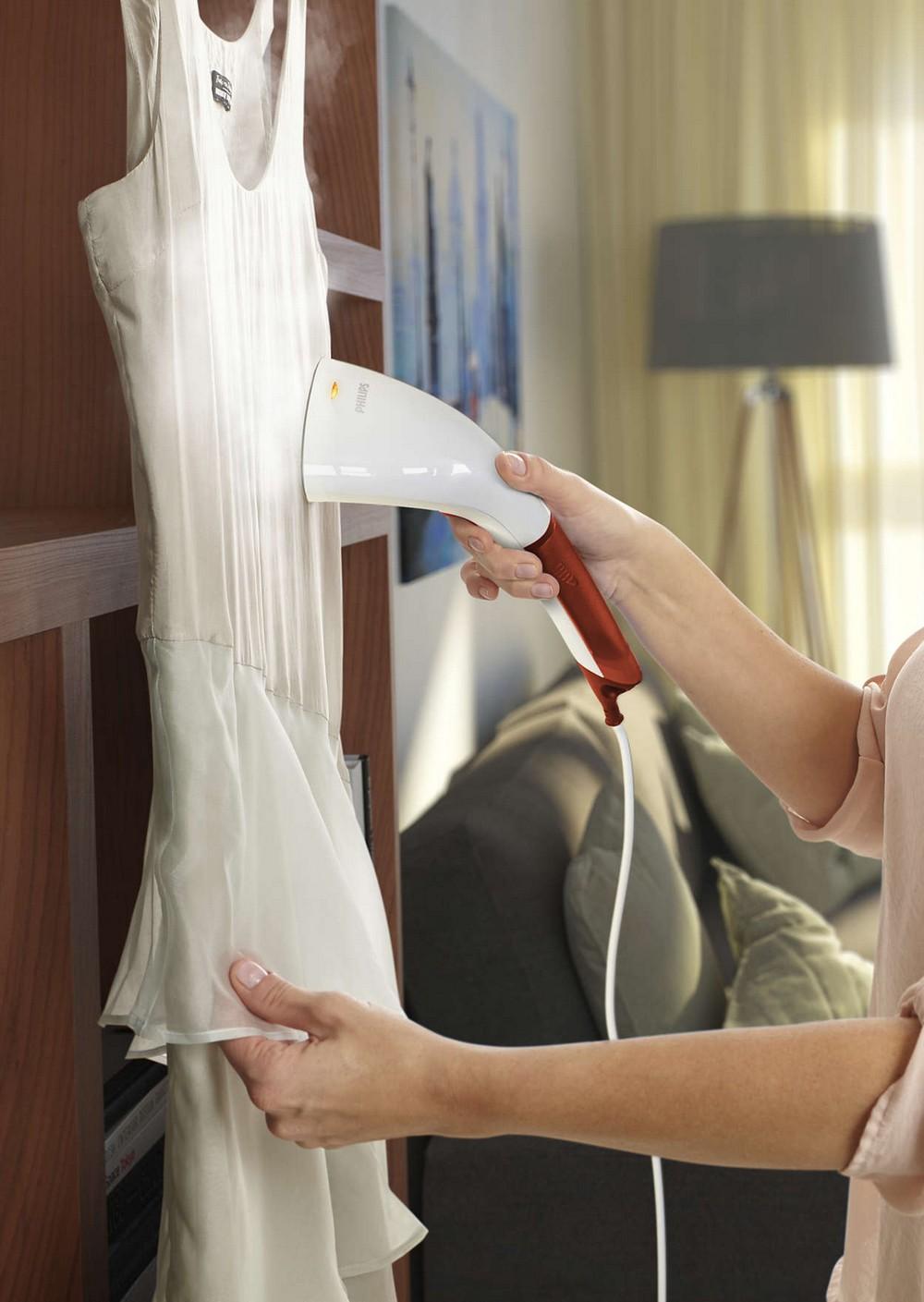 отпариватель для одежды и мебели, перевозной компактный утюг-отпариватель Philips