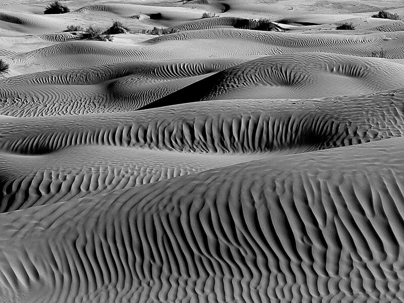 Dunes in the South Tunisian Desert, Tunisia, Africa