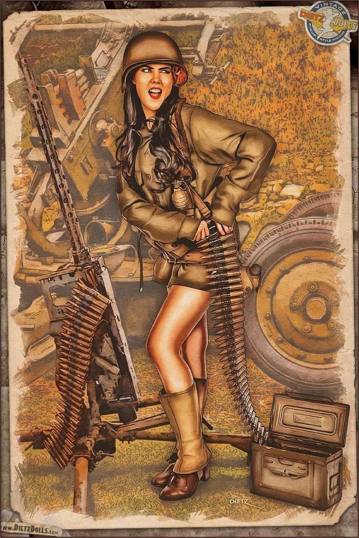 Армейский pin-up в стиле 1940-х годов от американского художника Britt Dietz (17)