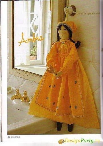 хранение целлофановых пакетов в специальной пакетнице, сшитой в виде куклы: