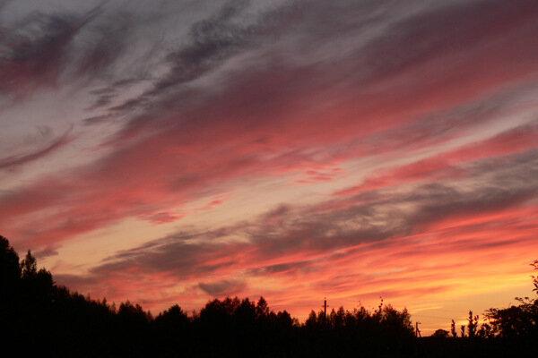 красный закат
