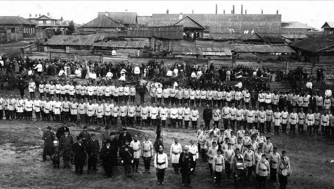 Барнаульское вольное пожарное общество в 10-летний юбилей, 1903