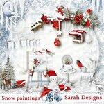 Snow paintings by Sarah Designs