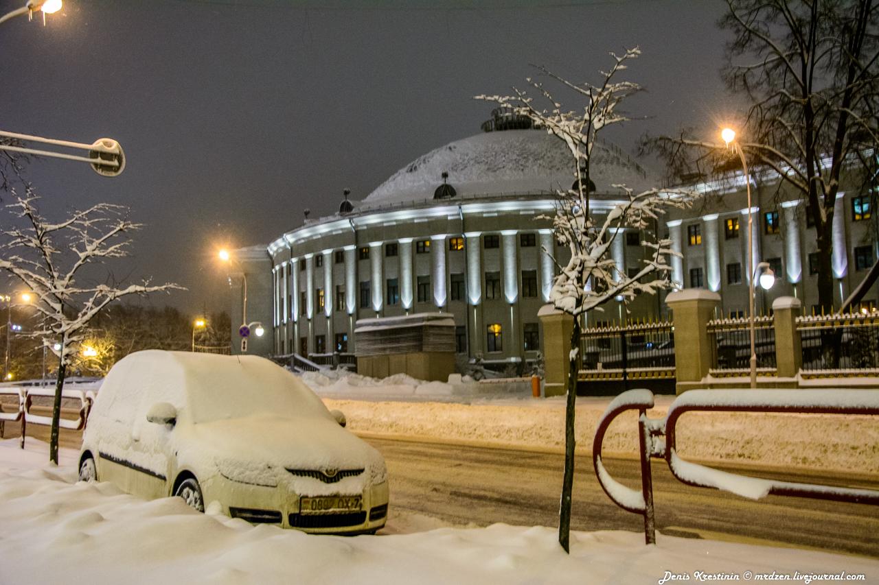 Снежный Минск. Даниелла. улица Янки Купалы