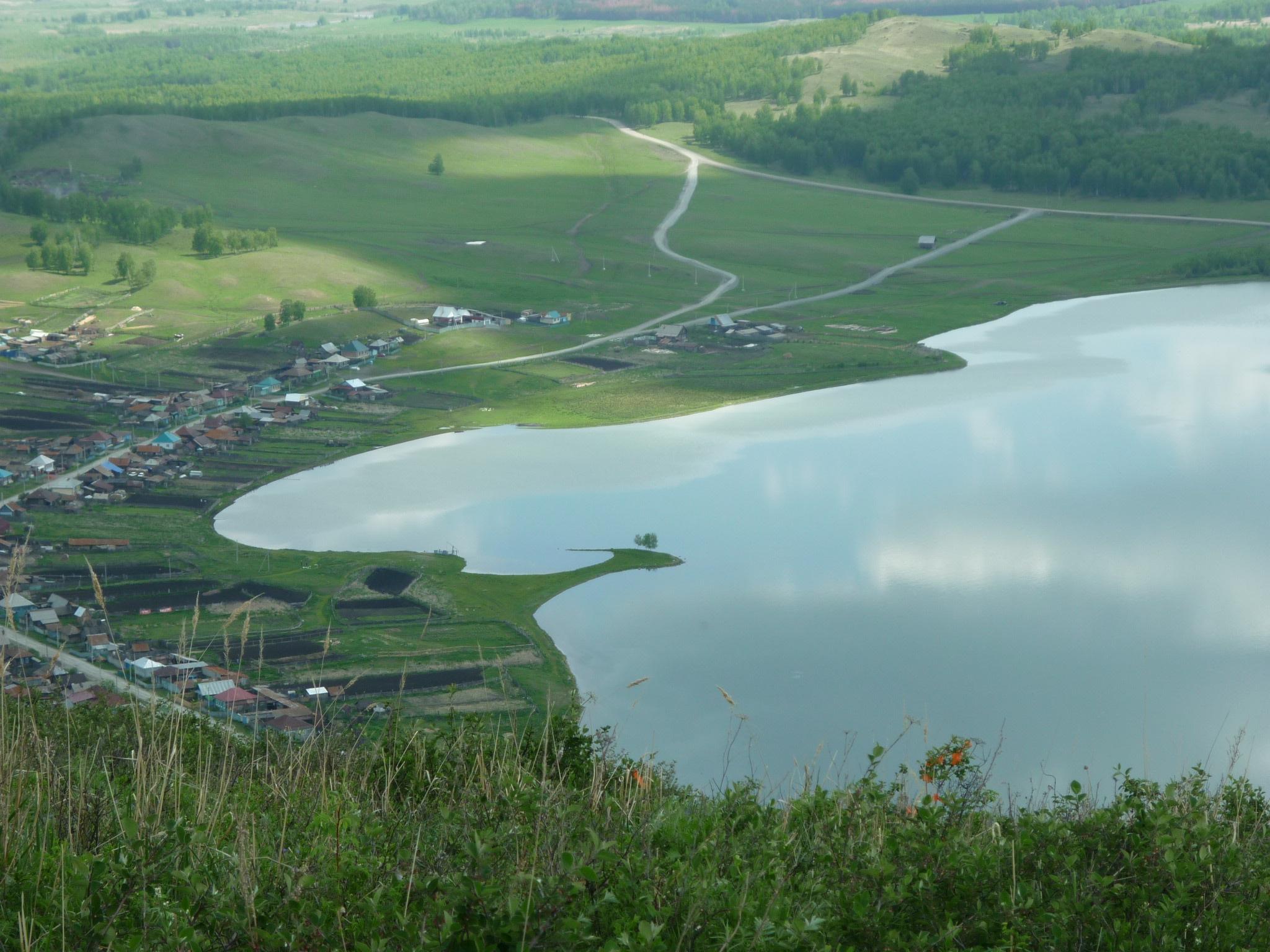 Деревня на берегу озера Аушкуль  (03.07.2015)
