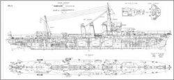 Книга Чертежи кораблей французского флота - TORNADE 1925