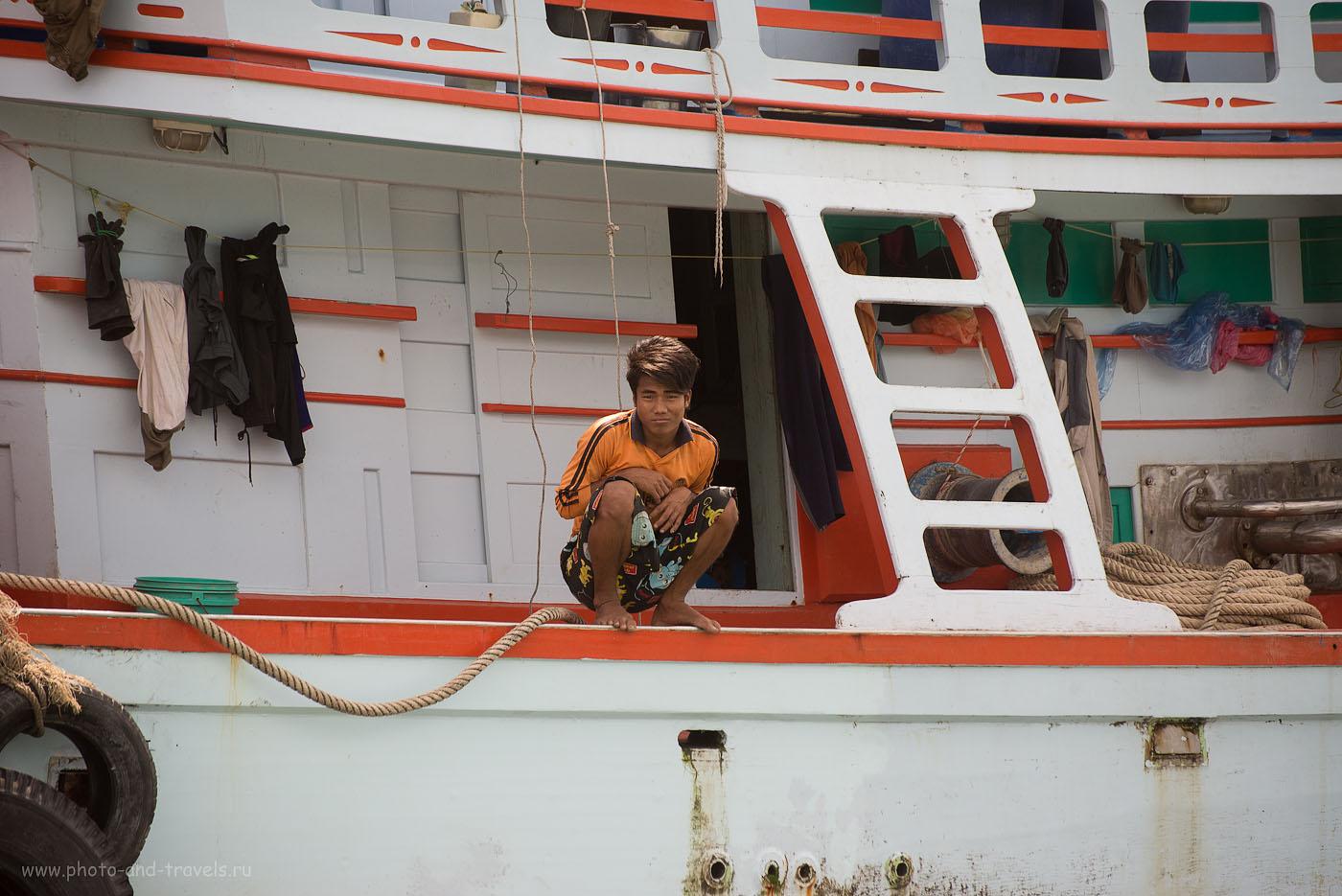 Фотография 5.  Рыбацкая деревня в окрестностях города Чумпхон в Таиланде. Добрый день, фаранги. (320, 180, 5.6, 1/800)