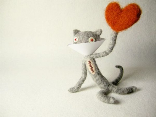 Felt Sculptures and more by Hine Mizushima