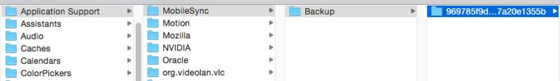 резервные копии iphone на mac