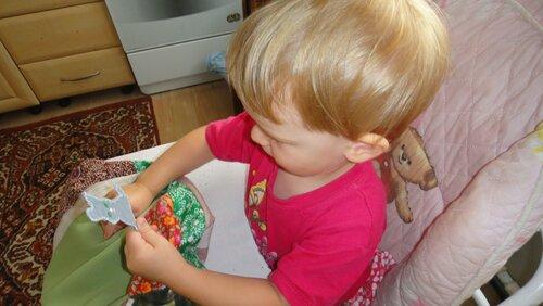 Сумка для игрушек под стульчик для кормления