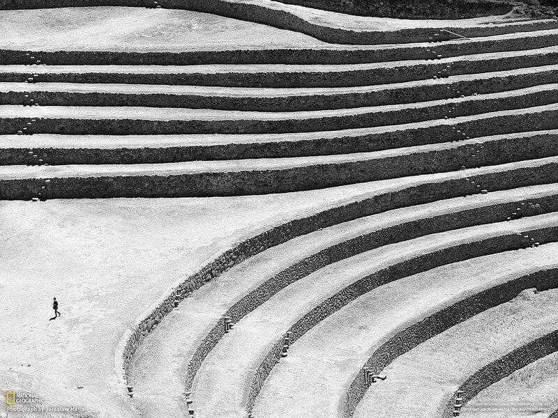 Круглые каменные террасы