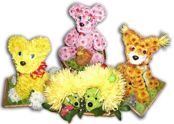 Необычайно красиво, игрушки из цветов