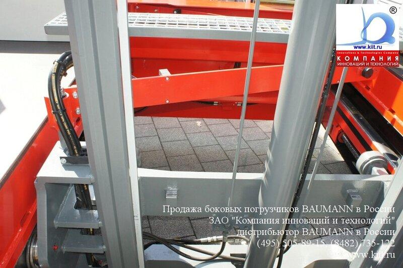 Вид боковой рамы. Боковые погрузчики BAUMANN на выставке СЕМАТ 2011