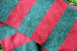 Длинный полосатый яркий Шарф Пеппи. Серо - красный
