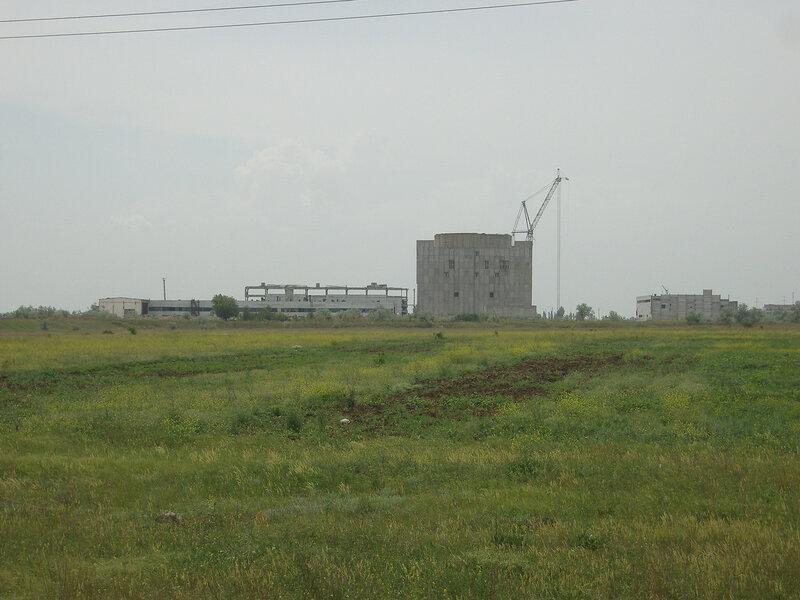 недостроенная Крымская АЭС, вид с востока
