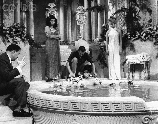 Joseph Mankiewicz Directing Elizabeth Taylor for Cleopatra