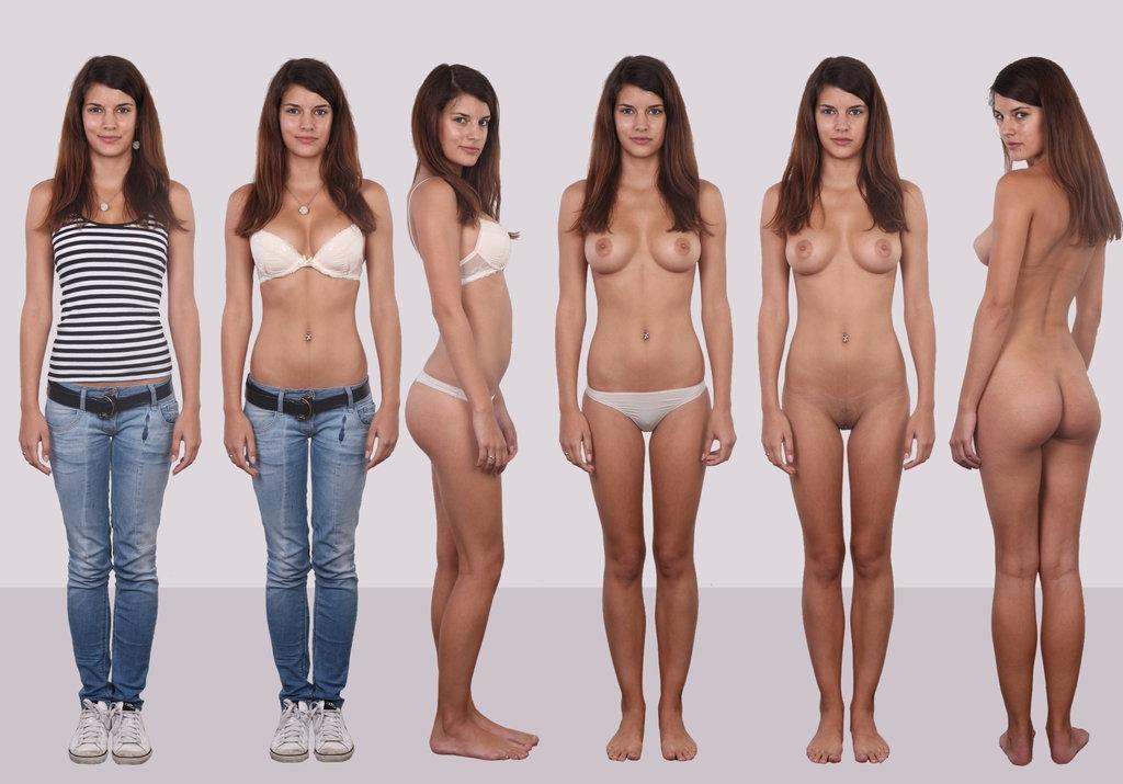 одетые девушки и тутже голые фото