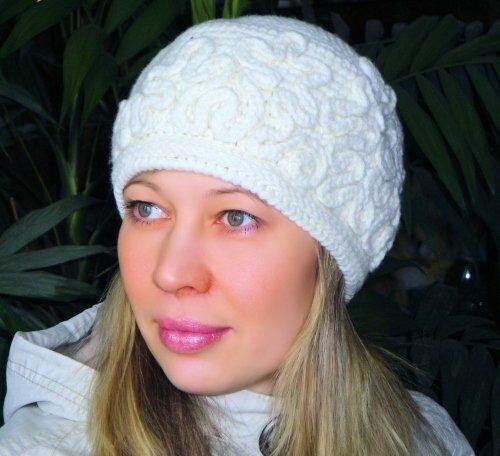 Вязание шапок крючком зимнии