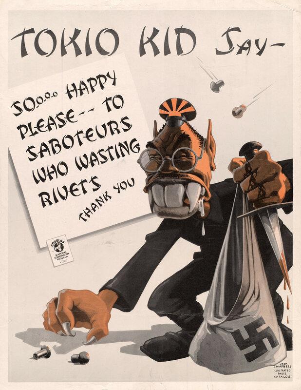 Tokio Kid say: So-o-o-o happy please - to saboteurs who wasting rivets, thank you!