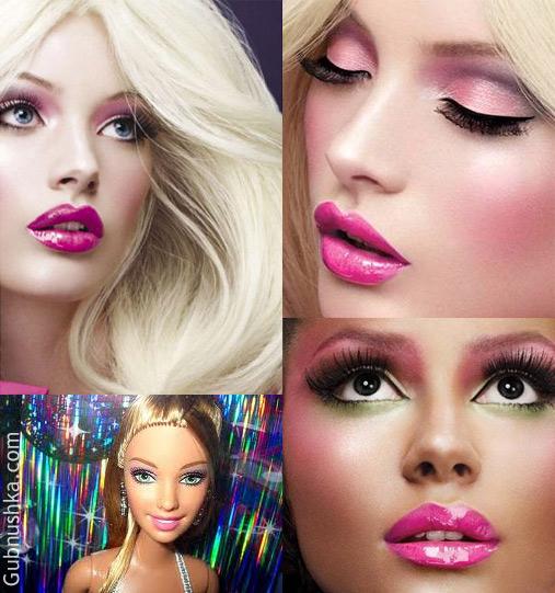 Кукольный макияж на брюнетках