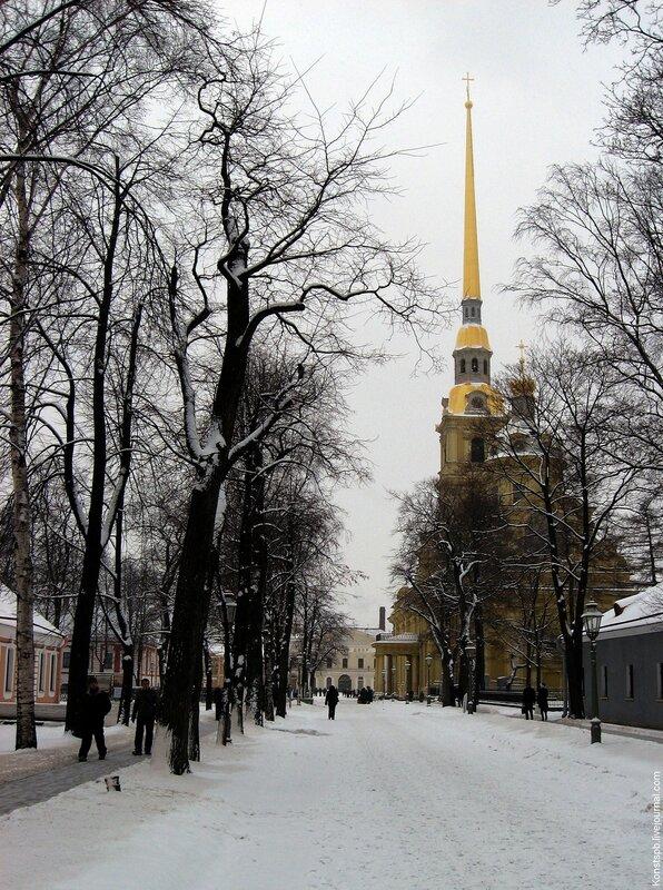 Санкт-Петербург, Петропавловский собор (собор святых апостолов Петра и Павла), февраль 2009