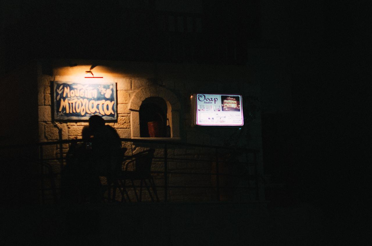 Греция, Халкидики, Ханиоти ночью