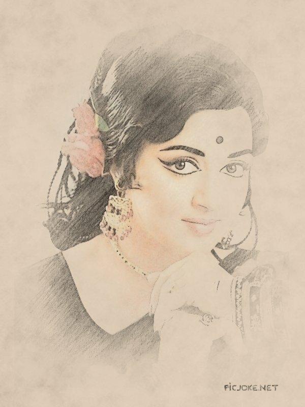 В простом карандаше (фотоэффекты с любимыми индийскими актрисами) .