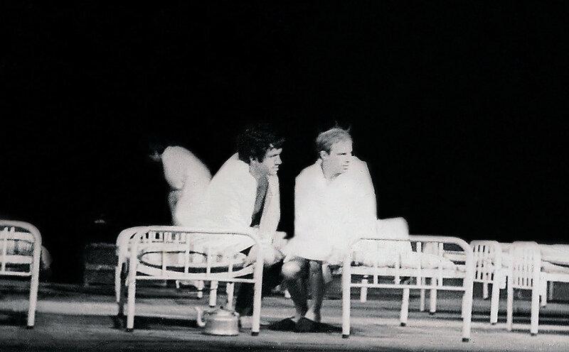 """""""А поутру они проснулись..."""" В.Шукшин. С.Садальский (Нервный) и А.Леонтьев, (Сухонький) театр """"Современник"""", 1977 год"""