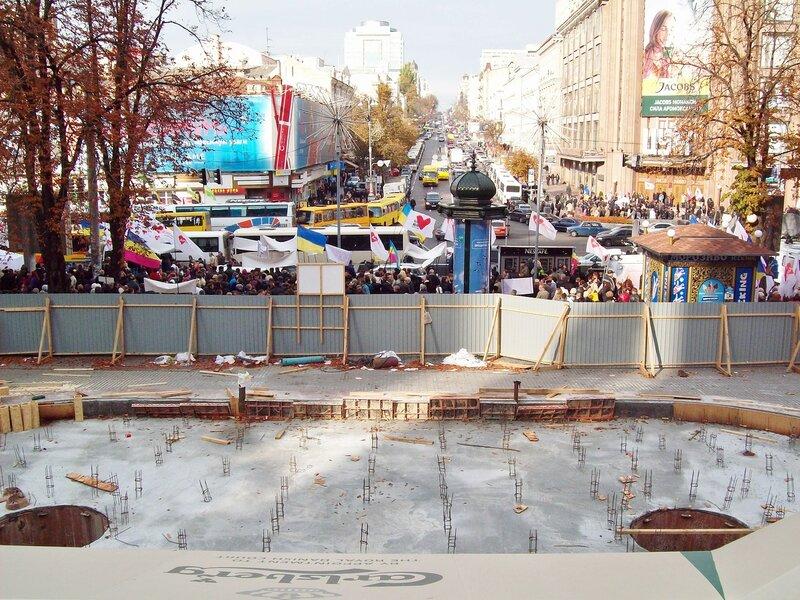 Реконструкция фонтана Крещатик