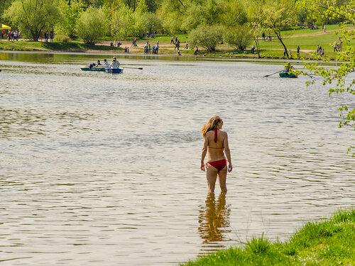 В парке Кузьминки на 9 мая.