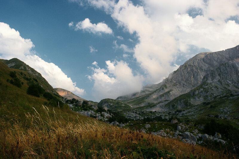 Вид на фишт-оштеновский перевал