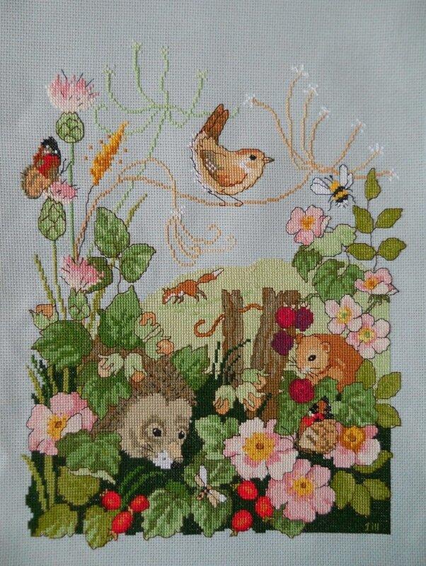 Вышивка крестом, схемы Сэмплер флора и фауна.