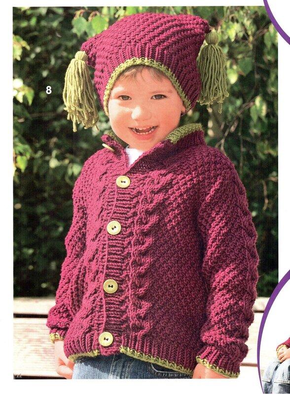Описание: спицами шапочки для новорожденных.