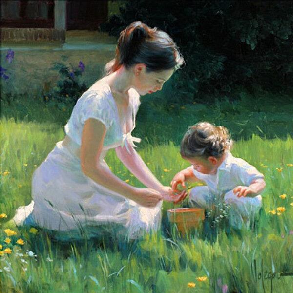 Paintings by Vladimir Volegov Children