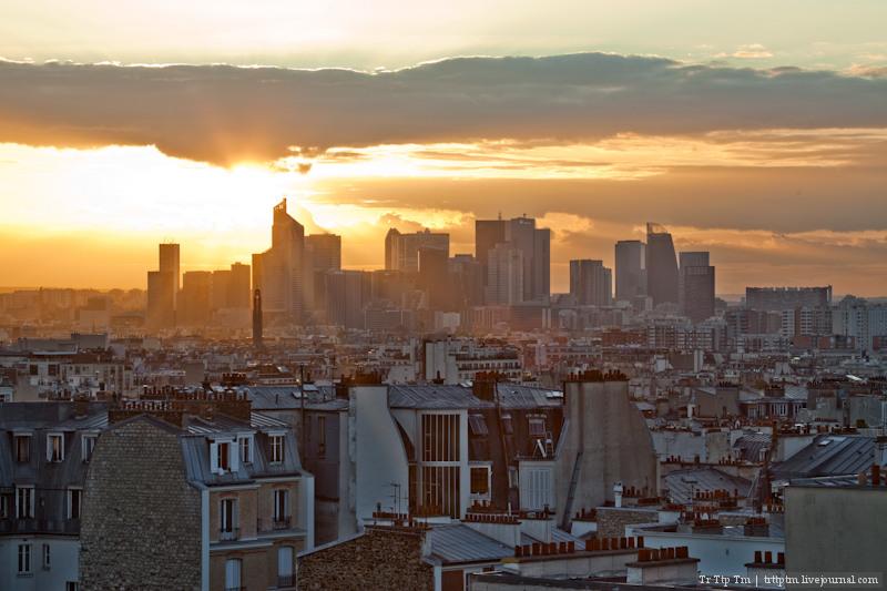 Крыши Парижа. Виды с Монмартра.